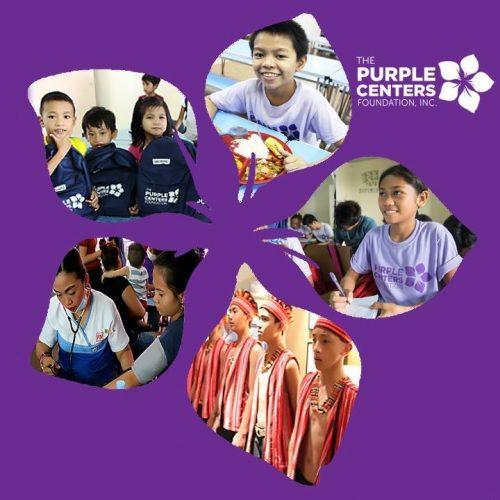 purple centers